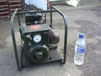 EX MILITARY 2nd WORLD WAR BATTERY CHARGER GENERATOR, LANCASTERS, TANKS