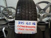 MATCHING SET 215 65 16 CONTIS 6MM TREAD £80 PAIR £140 SET SUPP & FITD ALSO 205 70 16s & 215 70 16s