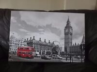 Red London Bus Canvas print - stretched & mounted for sale - £20.00