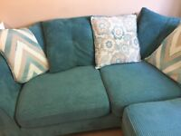 Teal corner sofa good condition