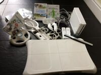 Wii Fit with games and controllers