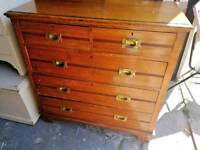 Vintage satinwood chest of drawers