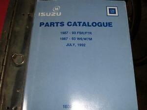 1987-1993 GM ISUZU MEDIUM DUTY TRUCK PARTS MANUAL