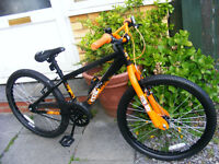 """JUMP BIKE 24"""" WHEEL HARDLY USED IN GREAT WORKING ORDER AGE 7+"""