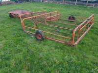 Cooks flat eight bale sledge tractor