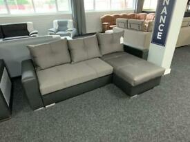 Corner sofa bed in fabric fast delivery leicester area view sofa in our showroom