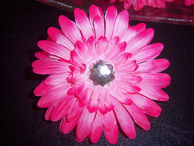 Hot Pink Gerber Daisy (WHOLESALE HOT PINK gerber DAISY TUTU crafts BRIDAL)