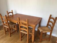 Table & 4 Chairs - £30