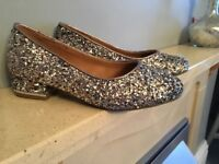 Brand new Girls silver glitter party shoes size 13 from River Island