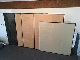 5 large picture frames