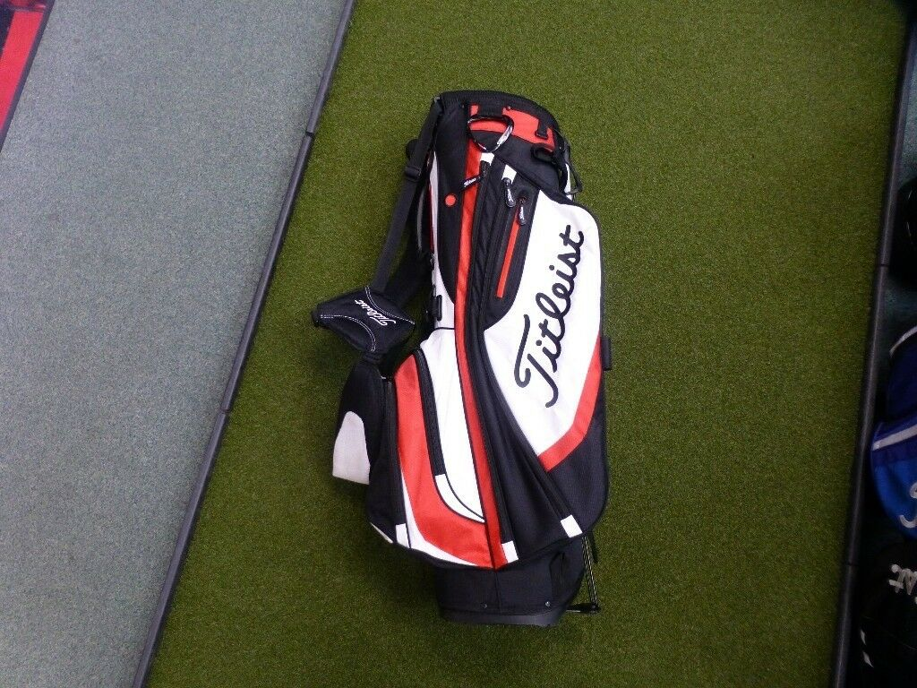 Titleist Golf Lightweight Stand Bag - Black/ White/ Red