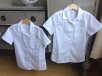 X2 unisex short sleeved white school shirts