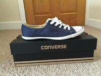 Ladies Blue All Stars Converse UK size 4