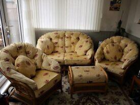 4 piece set bamboo conservatory furniture