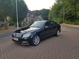2011 (11) MERCEDES C220 CDI SPORT + AUTOMATIC + BLACK + 135K MILES + FSH + IMMACULATE CONDITION !!!!