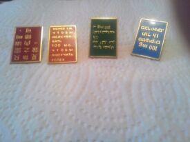 Odd pins / badges