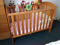 Kiddicare dropside cot & mattress - good condition!