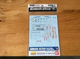 Bandai Gundam Decal – MG Gundam Astray 74 (Unopened)