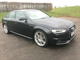 AUDI A4 A4 S LINE TDI 150BHP IN EXCELLENT CONDITION THROUGHOUT (black) 2013