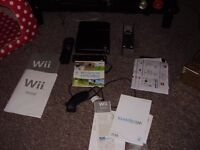 nintendo wii black with wii play