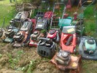 Job Lot Lawnmowers and strimmers Mc Cullogh Makita Ryobi Mountfield Harry Honda Hayter Husquvarna