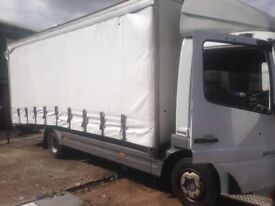 merceds atego 816 genuine low mileage 7.5T curtain sided recovery