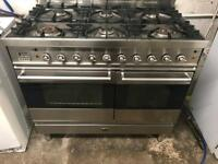 Britannia stainless steel range gas cooker and electric ovens 100cm