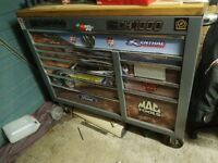 Mac tools tool box complete with snap on and mac tools.