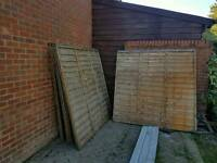 New fence panels