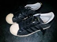 Adidas shell toe trainers size 5