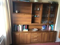 SIDEBOARD UNIT WITH DRINKS CABINET AND GLASS DISPLAY