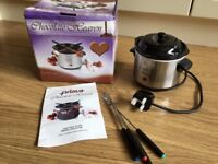 Chocolate Heaven Fondue pot(electric) & kit. Prima CHS-917uk
