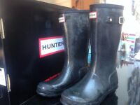 Hunter Wellies Navy Blue size UK 5