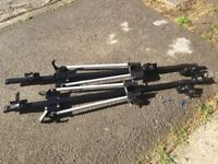 Pair of Roof Bar Mounted Lockable Cycle Carriers