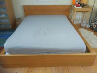 King size Ikea MALM bed frame