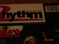 RHYTHM magazine for drummers + Modern Drummer + Drums and Drummin' Job Lot 59 magazines in total
