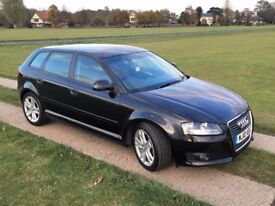 2010 AUDI A3 2.0 TDI SPORT - 6 SPEED - 50MPG - £30 TAX - FSH - FULL LEATHER - DRIVES SUPERB