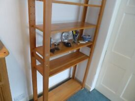 Large pine bookcase / shelving - good condition