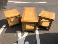 Solid oak lamp table * free furniture delivery *