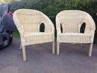X2 cute wicker chairs