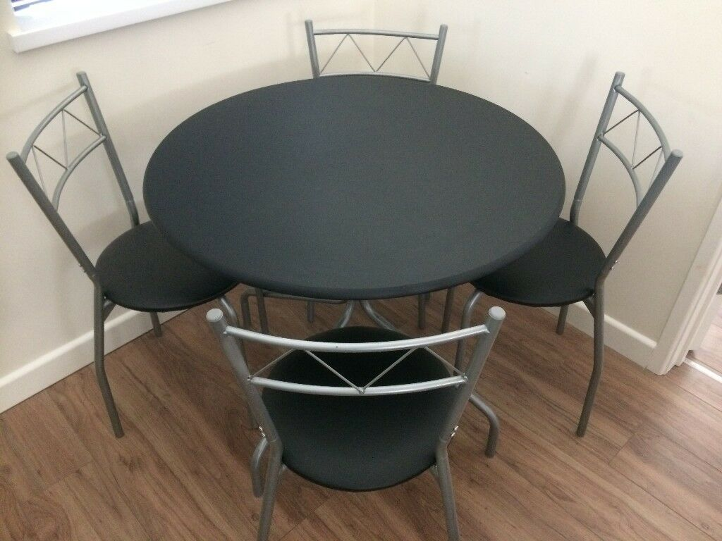 Oslo Round Dining Table 4 Chairs Black Argos Rrp 89 99