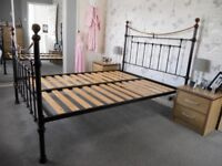 4ft 6in metal bed frame no mattresses very good condition