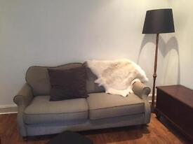 Olive/Grey Sofa
