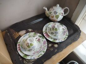 Collectors Tea set, Royal Botanic Kew Gardens Tea Set Limited Edition