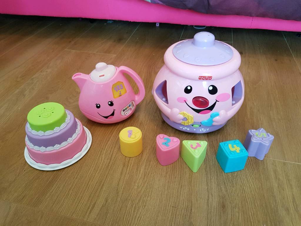 Fisher price cookie jar and teapot set