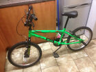 BOSS BMX GECKO B BRIGHT GREEN BIKE BICYCLE WITH FRONT AND BACK STUNT PEGS READY TO RIDE !!!!!!!!!!
