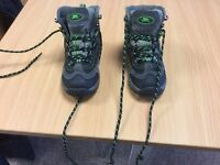 childrens walking / hiking boots waterproof and breathable worn twice like new boxed £15