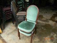 SEVERAL STACKING CHAIRS FOR SALE, Ideal for a function room or a local hall