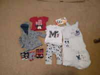 0-6 month Mickey Mouse boys clothes bundle
