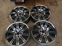 "19"" GENUINE BMW 19"" E46 M3 POLISHED WHEELS(320D,330D,33D,M SPORT,MSPORT,COUPE,318CI,CD,TRANSPORTER)"